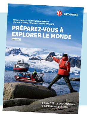 La nouvelle brochure d'Hurtigruten est actuellement distribuée en agences de voyages - DR : Hurtigruten