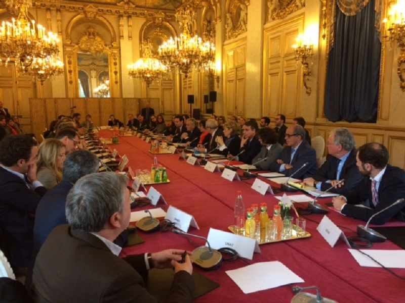 French tourism professionals met at the Quai d'Orsay on Tuesday, March 1st, 2016 - Photo : D.G.