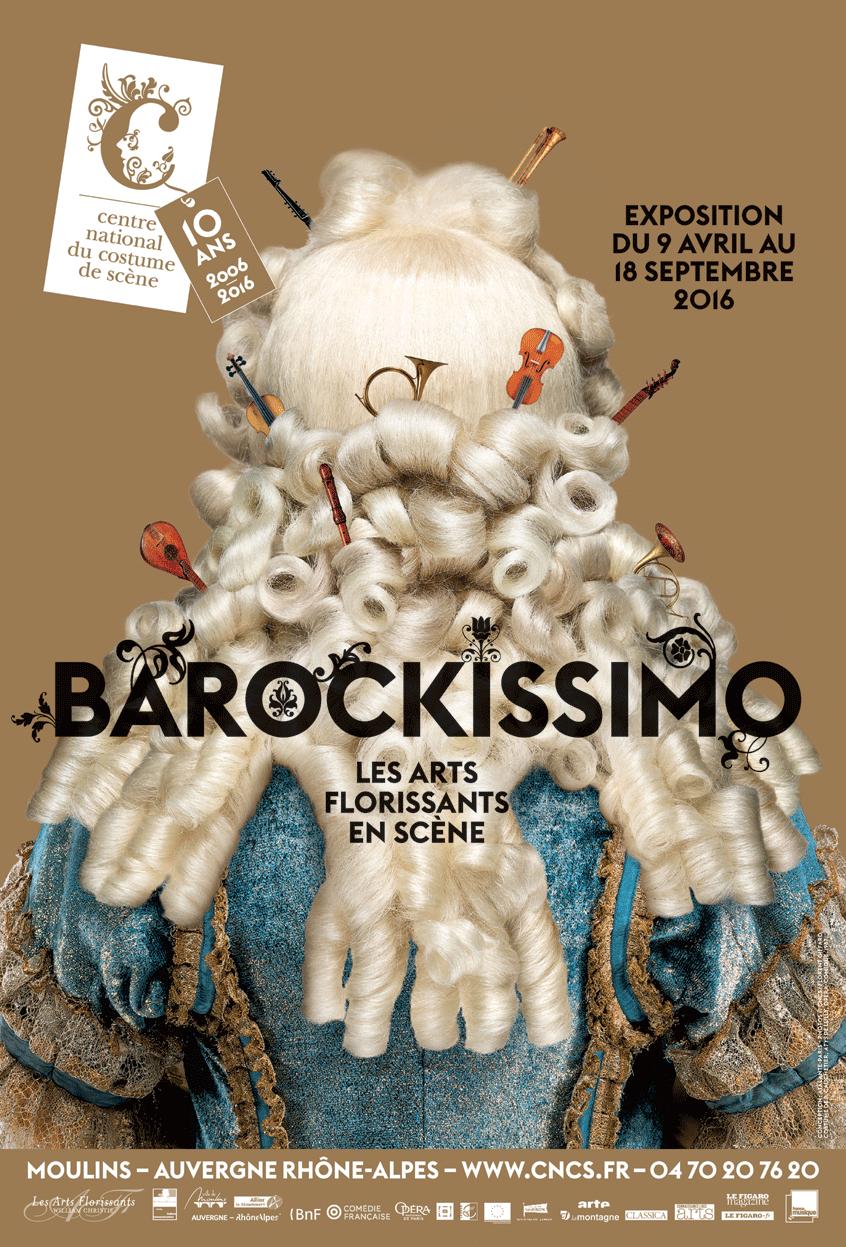 Affiche de l'exposition Barockissimo au CNCS (Photo:CNCS/Florent Giffard)