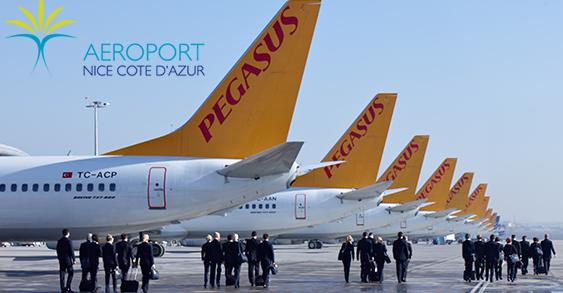 Les activités de Pegasus Airlines à Nice-Côte d'Azur reprennent le 11 mars 2016 - Photo : Pegasus Airlines