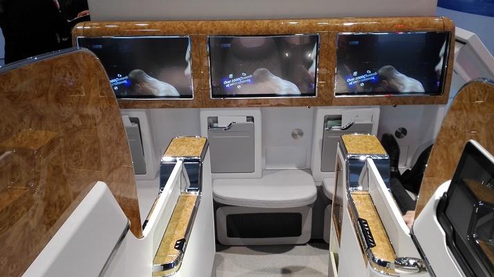 Les passagers de la classe Affaires d'Emirates pourront y profiter d'un écran tactile de 58 cm - Photo : P.C.