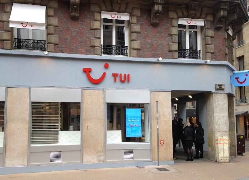 La façade du TUI Store de Rouen ouvert depuis décembre dernier - Photo TUI