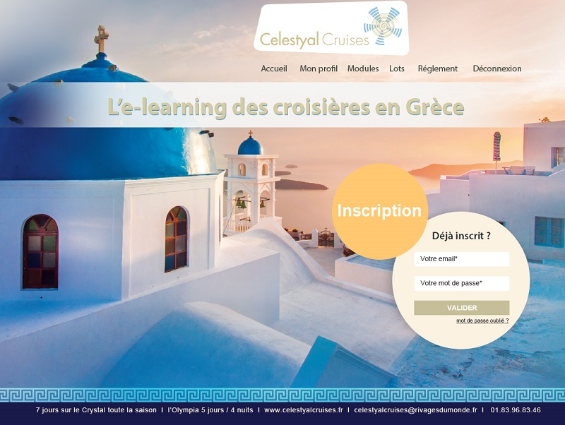 L'Elearning Celestyal Cruises pour les agents de voyages - Capture écran