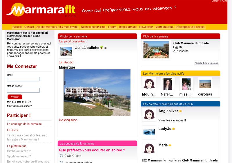 Marmarafit.com : Marmara lance son réseau social sur le web