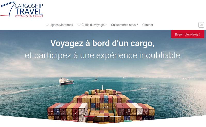Le nouveau site de Voyade en Cargo, filiale de Ponant - Capture écran