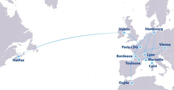 Le réseau d'ASL Airlines - DR