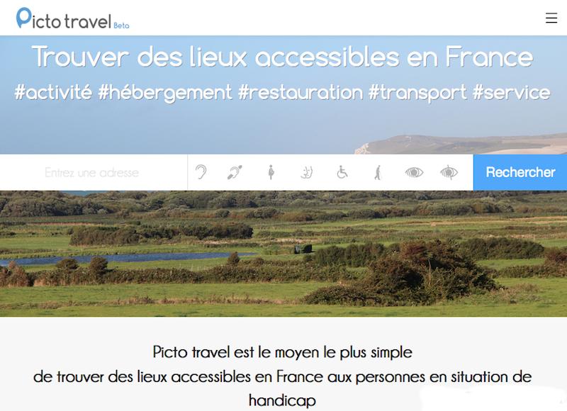 Picto Travel est un moteur de recherches de lieux accessibles en situation de handicap - (c) Picto Travel