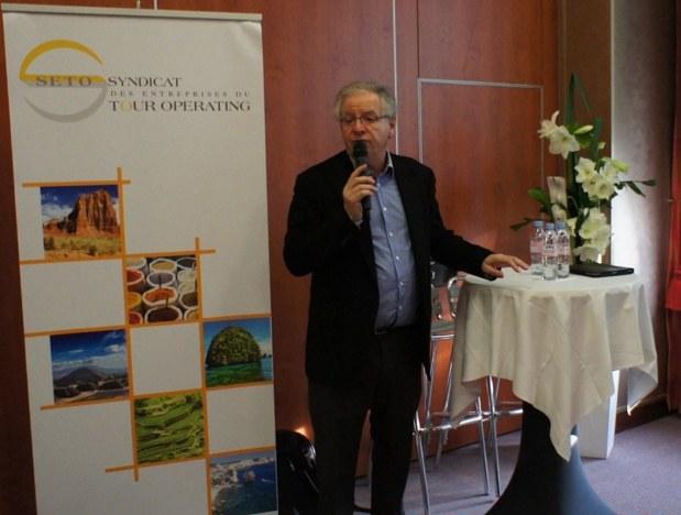 Lors du Forum 2015 du SETO, René-Marc Chikli, président du syndicat, annonçait déjà un trafic en hausse sur la France  - DR : C.E.