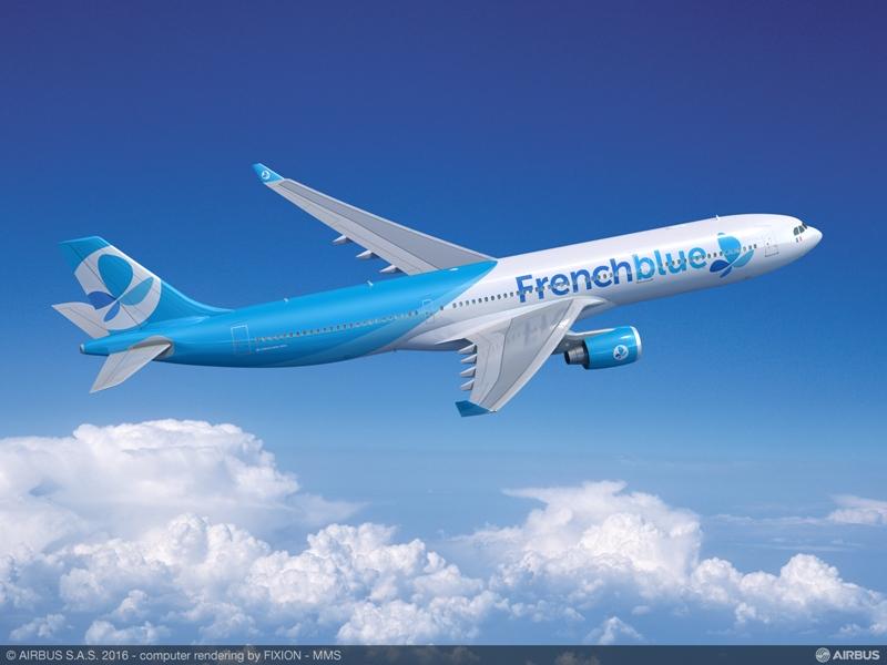 La nouvelle compagnie French Blue veut réduire les coûts mais sera quand même vendue sur le canal agences de voyages, grâce à un code-share avec Air Caraïbes. DR-Airbus.