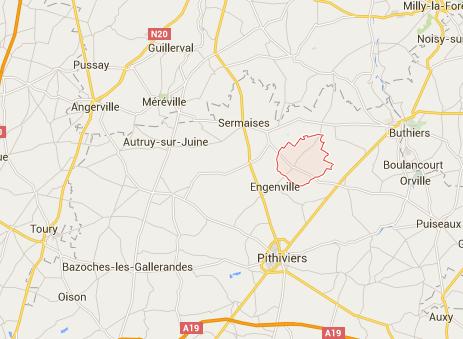 Le 3e aéroport d'Aéroports de Paris pourrait voir le jour dans la région de la Beauce - DR : Google Maps
