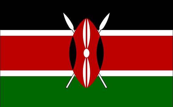 Le drapeau du Kenya - DR : Wikipedia