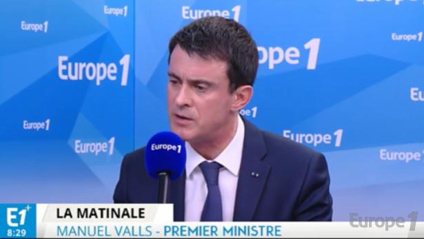 Manuel Valls était l'invité d'Europe 1 ce mercredi 23 mars 2016 - Capture d'écran