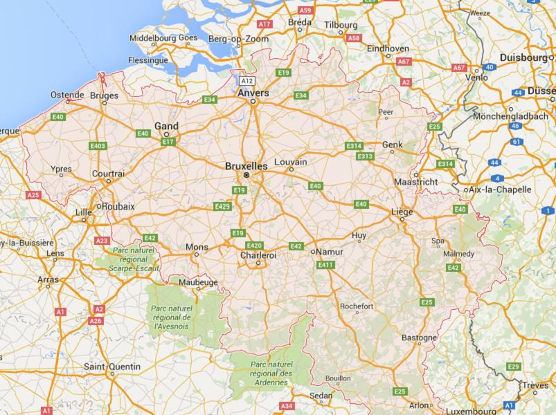 Jetairfly base provisoirement ses opérations à Ostende au Nord-Ouest de Bruxelles, tandis que Thomas Cook Airlines Belgium a opté pour Liège, au Sud-Est de la capitale belge - DR : Google Maps