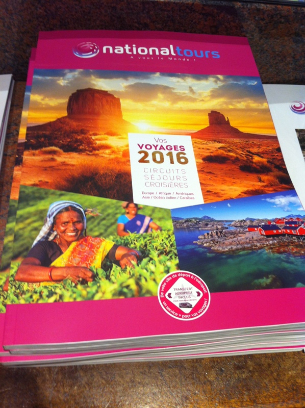 La brochure 2016 de Nationaltours. DR