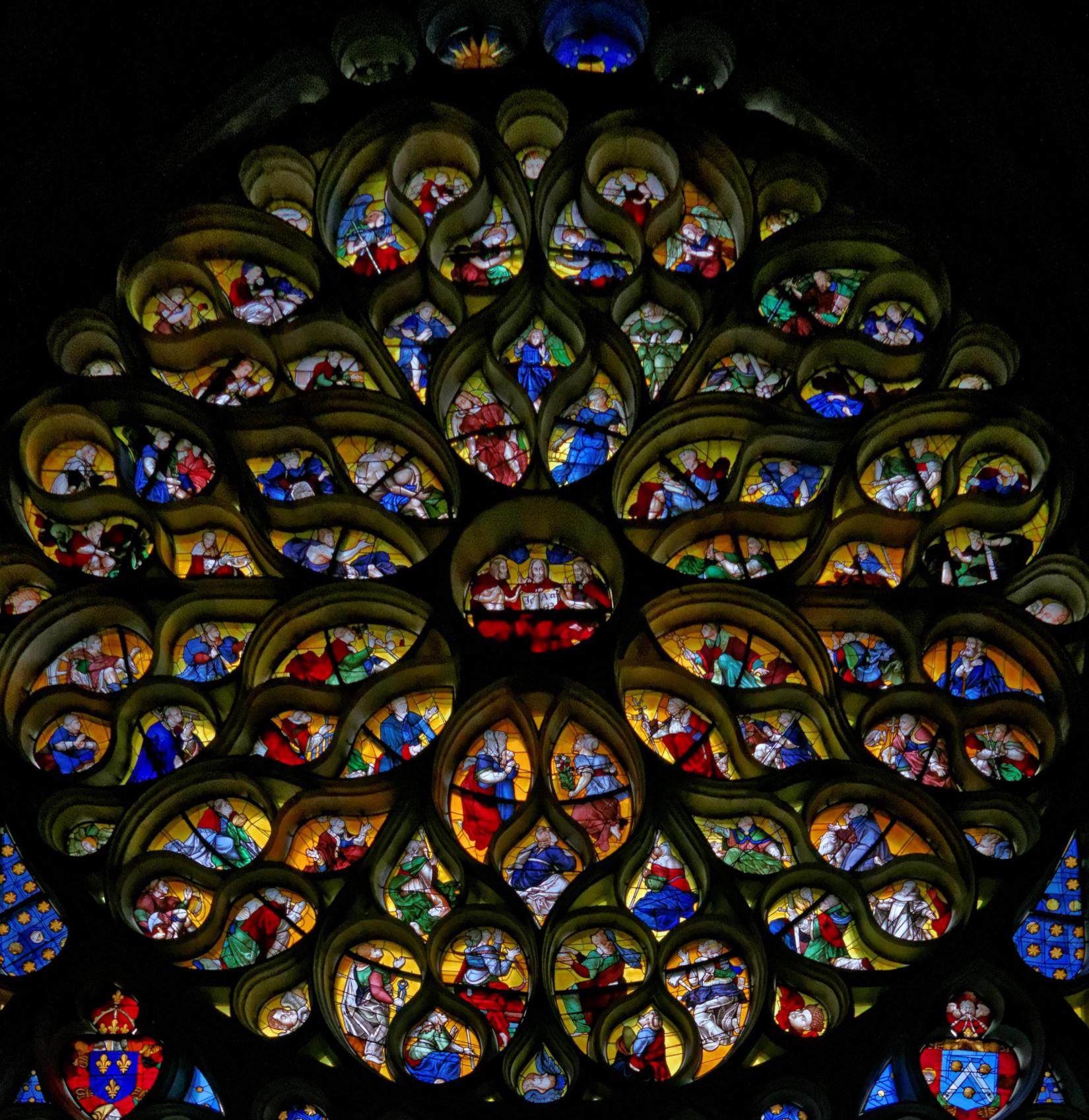 La rose occidentale de la cathédrale de Troyes (photo: Denis Krieger)