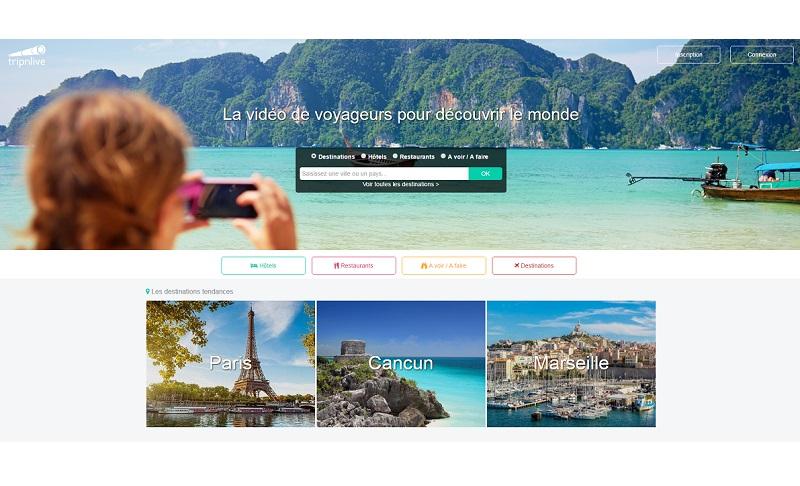 Tripnlive propose une alternative aux commentaires en proposant une plateforme de vidéos pour rassurer les voyageurs et les inciter à partir en toute confiance  (c) capture d'écran Tripnlive