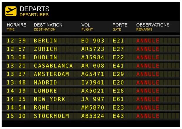 la DGAC a demandé aux compagnies aériennes de réduire leur programme de vols de 20% pour l'aéroport d'Orly et d'un tiers pour l'aéroport de Marseille. © sablin - Fotolia.com