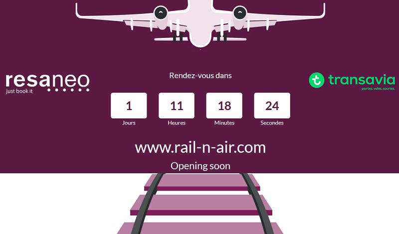 Train : Resaneo et Transavia lancent Rail-n-air.com