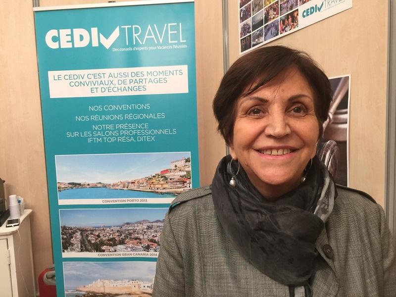 Adriana Minchella, présidente du CEDIV sur le stand du réseau au DITEX - Photo JdL