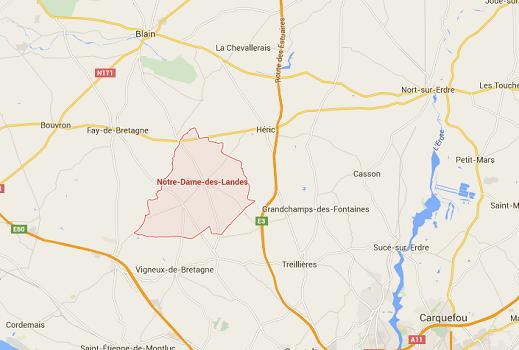 Pour la CGT de Vinci, l'aéroport de NOtre-Dame-des-Landes n'a pas lieu d'être - DR : Google Maps