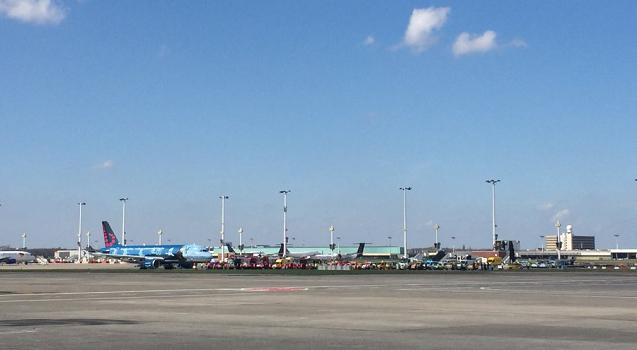 Les avions sont revenus à Bruxelles-Zaventem dimanche 3 avril 2016 - Photo : Twitter @BrusselsAirport