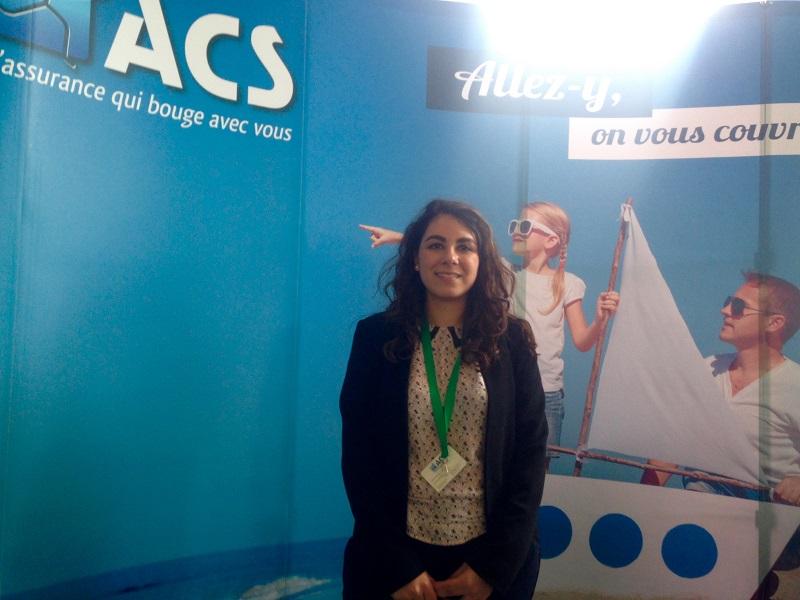 Sharone Touitou, sur le stand ACS du salon des blogueurs Voyage à Bruxelles (c) Johanna Gutkind