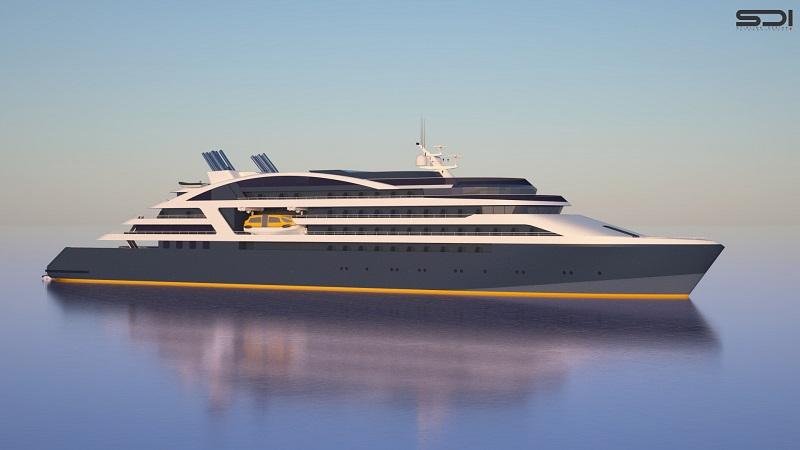Commandés à une filiale norvégienne du chantier naval de Fincantieri, deux des futurs bateaux d'exploration de Ponant seront livrés en 2018, et les deux autres en 2019 - DR : Ponant