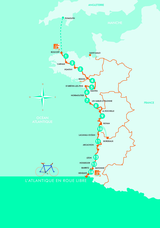 Carte de la vélodysée