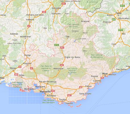 La région PACA compte deux CRT - DR : Google Maps