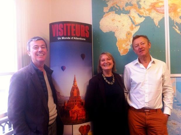Didier Blanchard et Didier Rabaux, les deux directeurs de Visiteurs en compagnie Armelle Le Scaon, la nouvelle directrice de production. DR-LAC