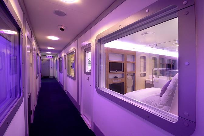 Le Yotel de Paris-CDG comptera 80 chambres disponibles en ligne, 24h/24 et 7j/7 - Photo : Yotel