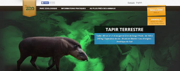 Touroparc.zoo élargit son offre pour la saison estivale 2016 - Capture d'écran