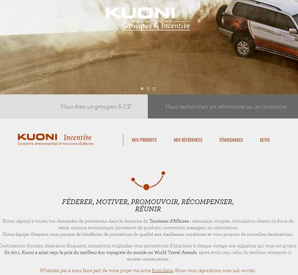 Le nouveau site B2C pour les groupes et CE de Kuoni France permet de demander des devis en ligne - Capture d'écran