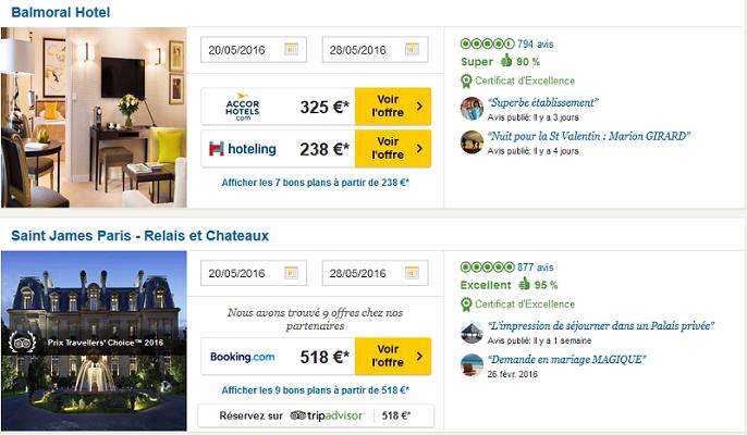 Tripadvisor se met la r servation d 39 h tels en ligne for Reserve hotel en ligne