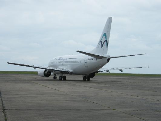 Les deux Boeing d'Air Méditerranée ont été vendus aux enchères sur l'aéroport de Tarbes, mardi 26 avril 2016 - Photo : DR