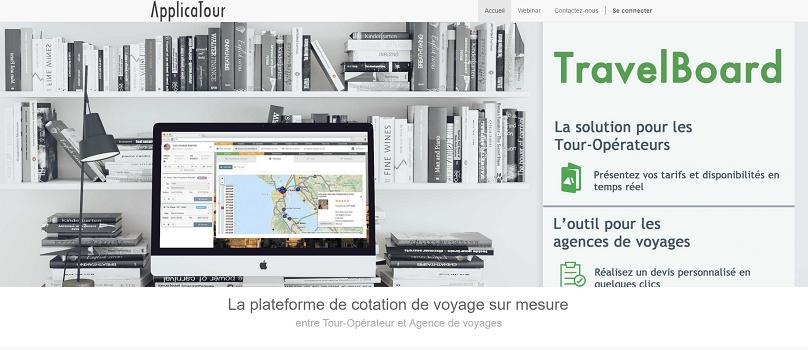 TravelBoard est un nouel outil pour faciliter le travail des agences de voyages et des TO dans le cadre de la création de voyages sur-mesure - Capture d'écran