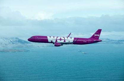 WOW Air passera par Reykjavík pour relier Lyon avec plusieurs destinations au Canada et aux Etats-Unis - Photo : WOW Air