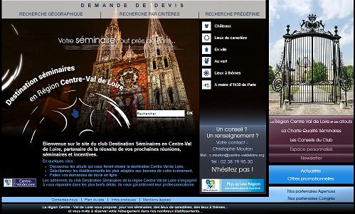 Interface MICE devra promouvoir les atouts de la région Centre-Val de Loire pour les voyages d'affaires - Capture d'écran
