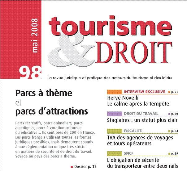 Partenariat TourMaG.com/Tourisme & Droit