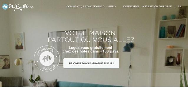 MyTwinPlace propose un échange gratuit de logement pour les vacances - Capture d'écran