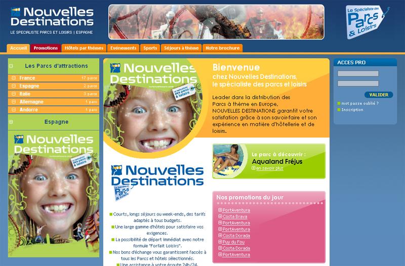 Le site Internet de ''Nouvelles Destinations'' fait peau neuve