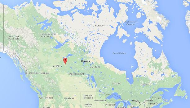 Plus de 100 000 personnes ont été évacuées dans la région de Fort McMurray - DR : Google Maps