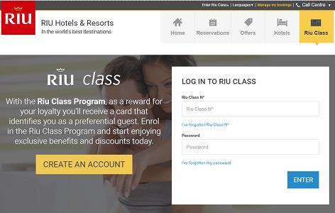 Le site de RIU Class a été modernisé et fusionné avec Riu.com - Capture d'écran