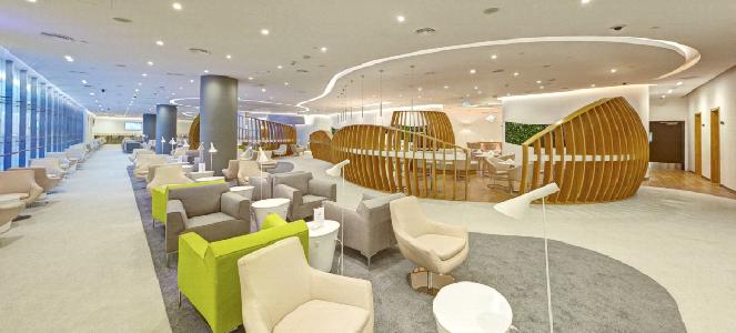 Le nouveau lounge de SkyTeam à Dubaï s'étend sur plus de 960 m² - Photo : SkyTeam