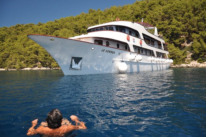 Le Cordéa est l'un des trois yachts de la Cordée Voyages à effectuer des croisières en Croatie - Photo La Cordée Voyages