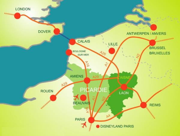 How to get to Aisne?