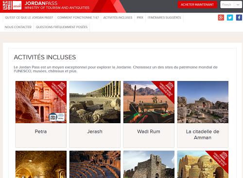 Le site internet dédié au Jordan Pass est désormais traduit en français - Capture écran
