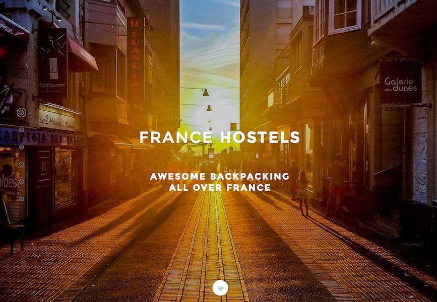 France Hostels professionnalise et renouvelle l'offre d'hébergement jeune pour devenir l'acteur de référence du secteur en France, avec 10 ouvertures prévues dans les 5 prochaines années (c) Capture Francehostels.fr
