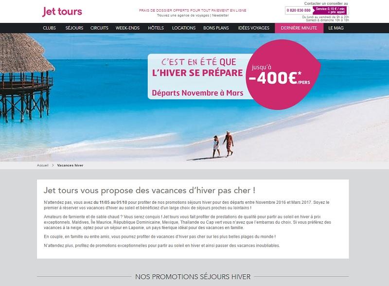 Jet tours : ouverture des ventes long-courrier pour l'hiver 2016-17