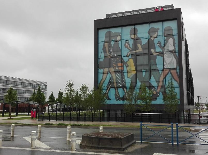 The Citizen M of Paris CDG is an imposing rectangular building - Photo : P.C.